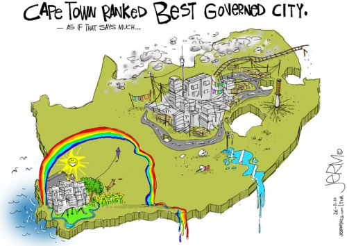 'Cape Town Recognised for Governance': Africartoons.com