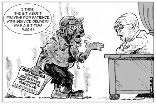 'Praying for Delivery': Africartoons.com