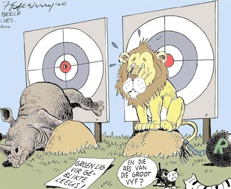 'Hunting the Big Five': Africartoons.com