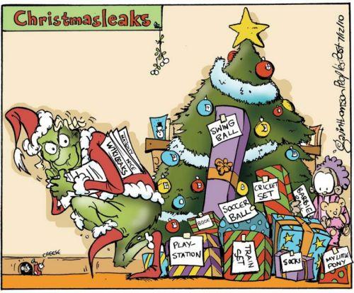 'Christmas Leaks': Africartoons.com
