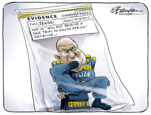 'Cele Puts His Foot In It': Africartoons.com