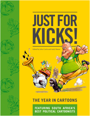 'JUST FOR KICKS! Book Cover': Africartoons.com