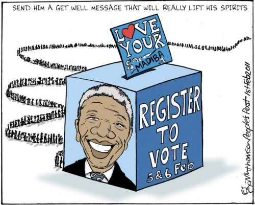 'Vote for Mandela': Africartoons.com