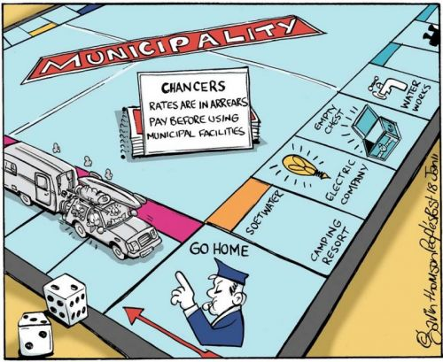 'Municipality: The board game': Africartoons.com