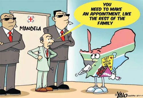 'Mandela in Hospital': Africartoons.com