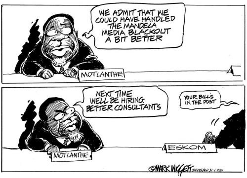 'The Mandela Media Blackout': Africartoons.com