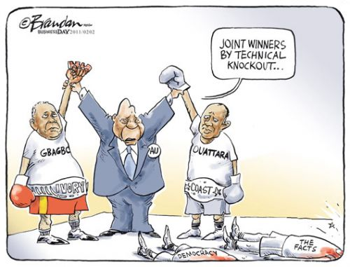 'No Outright Winners ': Africartoons.com
