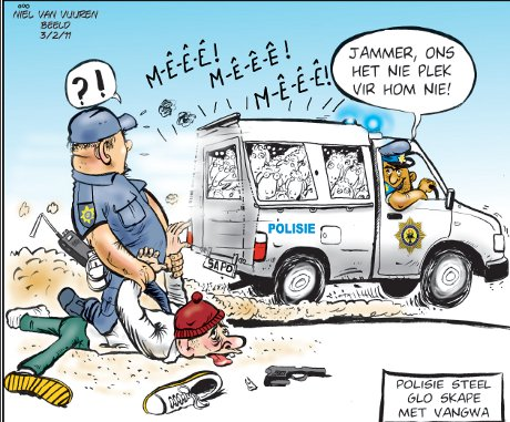 'Wolf in Cop's Clothing': Africartoons.com