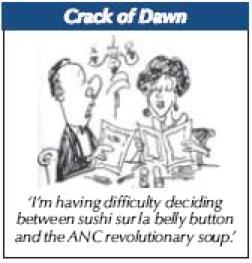 'Sushi or Soup?': Africartoons.com