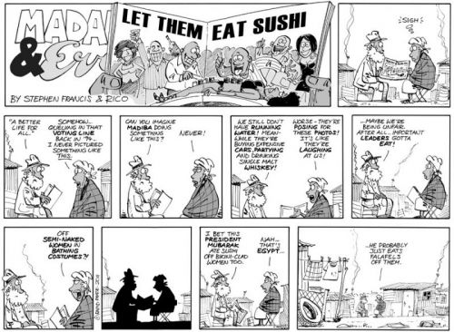'Sushi and Falafels ': Africartoons.com
