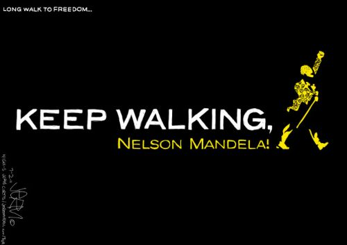 'Keep Walking, Madiba!': Africartoons.com