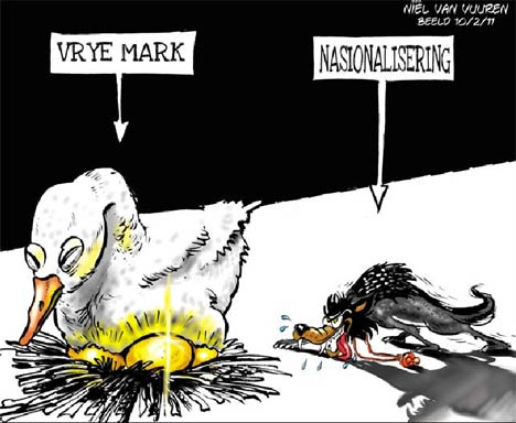 'Killing the Goose and Nationalising the Golden Eggs': Africartoons.com