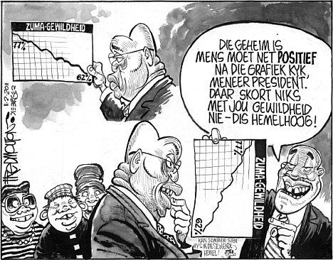 'Zuma's Popularity Ratings': Africartoons.com