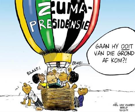 'Zuma Lift Off?': Africartoons.com