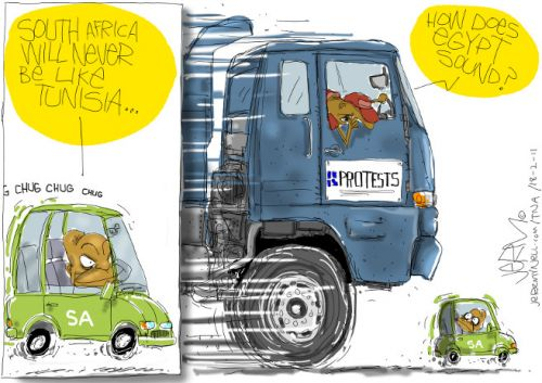 'Uprising South Africa': Africartoons.com