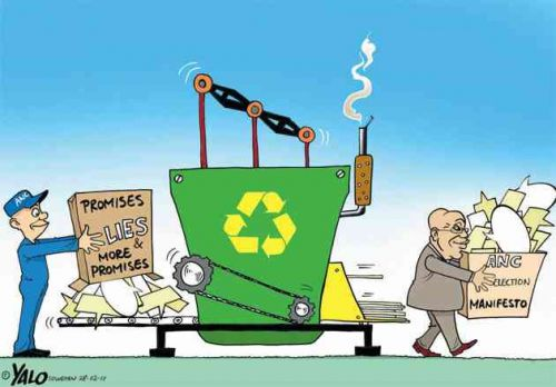 'Recycled Election Promises': Africartoons.com