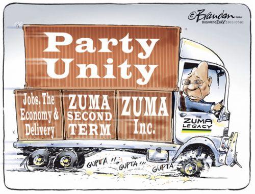 'Gupta Powered Zuma': Africartoons.com