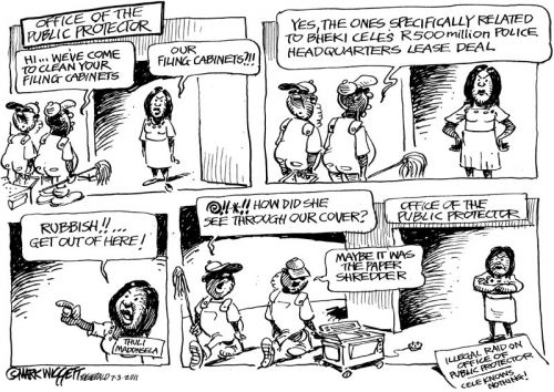 'Raid on the public Protector': Africartoons.com