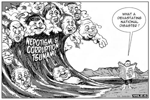 'Corruption Tsunami': Africartoons.com