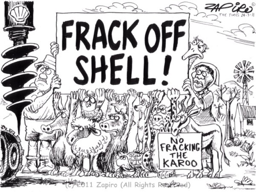 'Frack Off Shell': Africartoons.com
