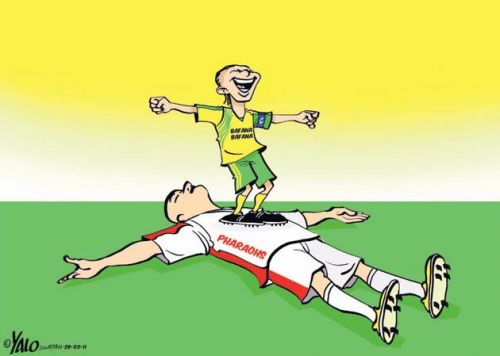 'Bafana beat the Pharaohs ': Africartoons.com