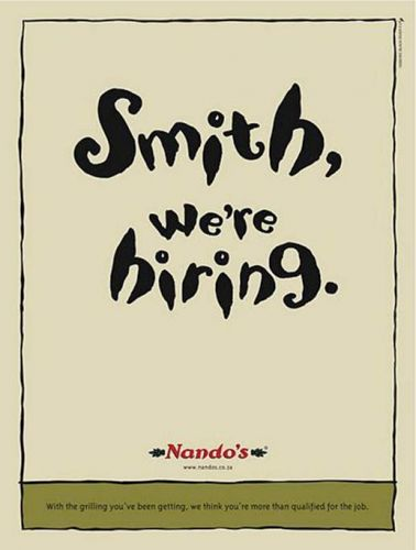 'Nandos is Hiring': Africartoons.com