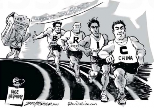 'Race Inequality Amongst BRICS Members': Africartoons.com