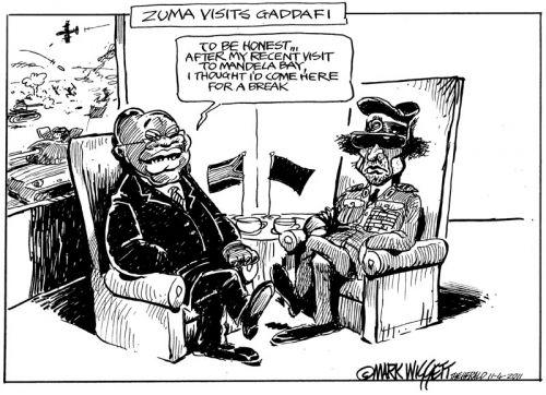 'Zuma and Gaddafi': Africartoons.com