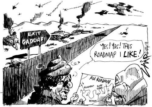 'Zuma's Roadmap to Peace in Libya': Africartoons.com