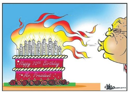 'The President, Putting Out Fires': Africartoons.com