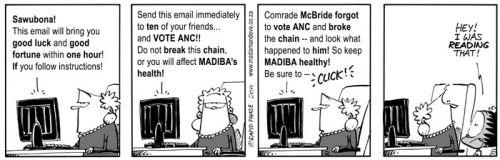 'Vote ANC or else...': Africartoons.com