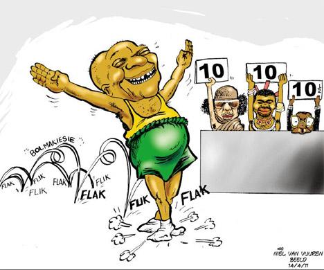 'Zuma Does the Flip Flop': Africartoons.com