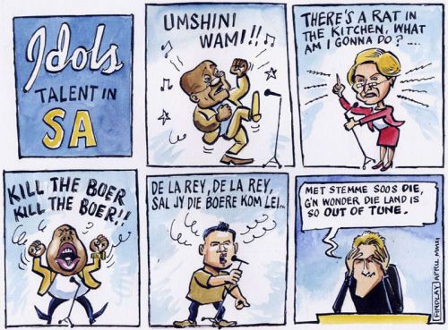 'SA Idols Struggle with their Songs': Africartoons.com