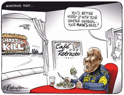 'Cele Eats His Words': Africartoons.com