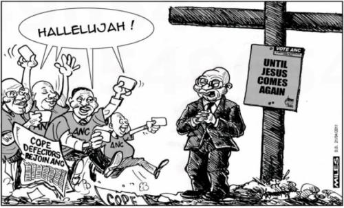 'Cope Defectors Cross Back': Africartoons.com