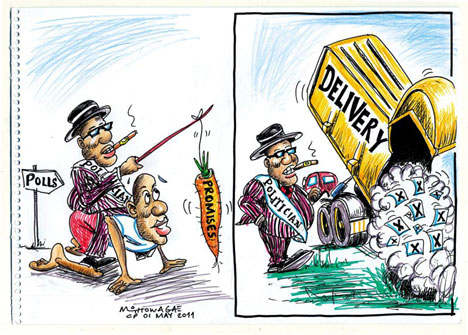'The Carrot, the Stick and the Dumped Ballots': Africartoons.com