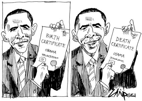 'One for the Birthers and the Deathers': Africartoons.com