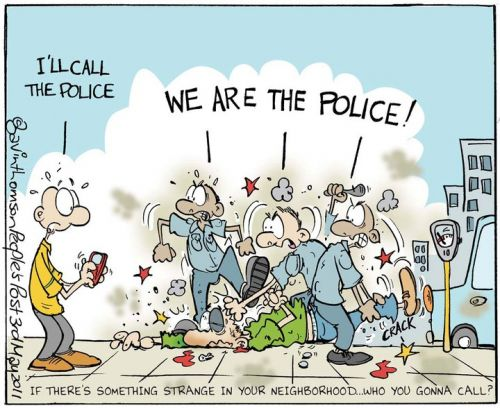 'We ARE The Police!': Africartoons.com
