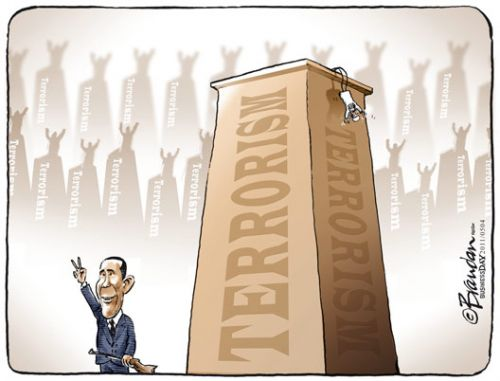 'Osama - One Down, Many to Go?': Africartoons.com