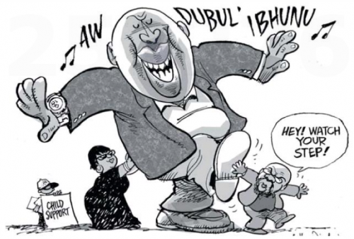 'Winnie and Gwede's Child Support': Africartoons.com