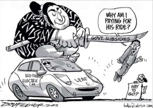 'Nissan Leaf Subsidies': Africartoons.com