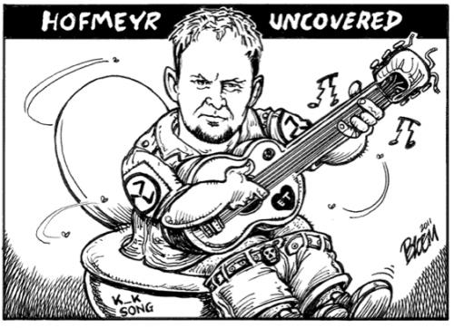'Steve Hofmeyr al Weer in die Kak': Africartoons.com
