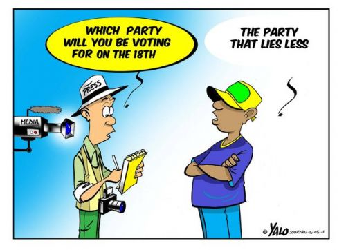 'Promises and Lies': Africartoons.com