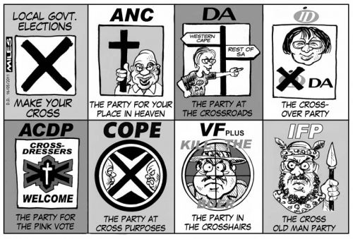 'Which Party Deserves YOUR Cross?': Africartoons.com