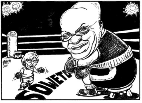 'Soweto Battle': Africartoons.com