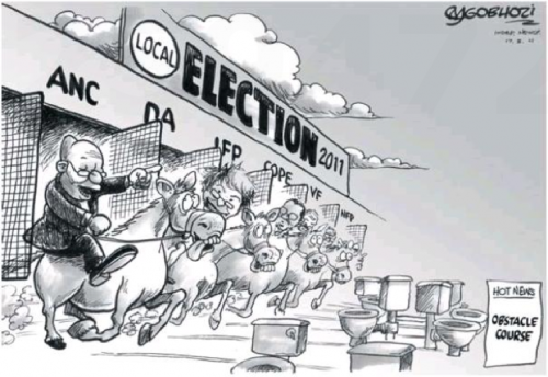 'An Electoral Obstacle Course ': Africartoons.com