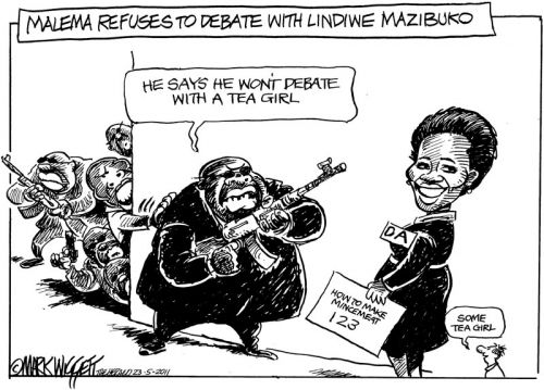 'Julius Won't Take Debate': Africartoons.com