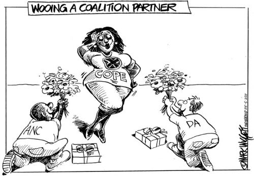 'Wooing The Coalition Partner': Africartoons.com
