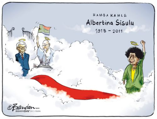 'Hamba Kahle Ma Sisulu': Africartoons.com