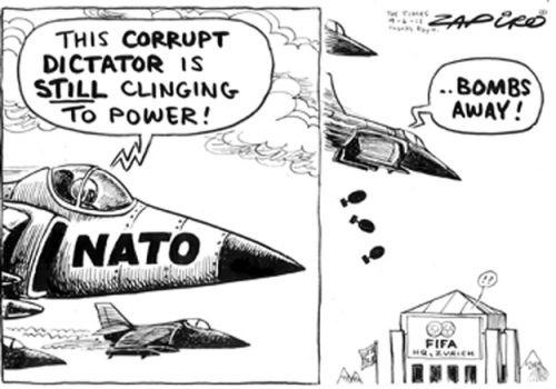 'Bombs Away!': Africartoons.com